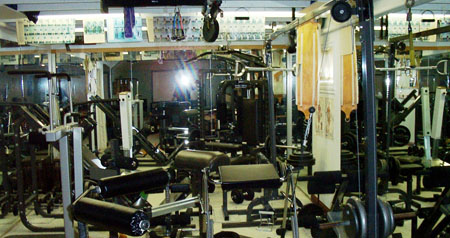 gym in Hudson home